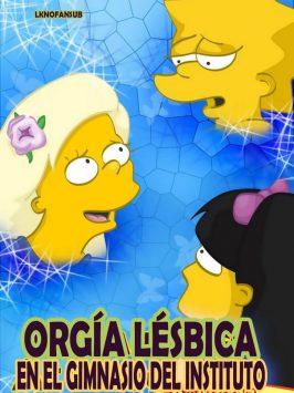 Los Simpsons Orgia Lesbica